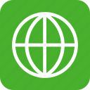 global, globe, green, international, language, square icon