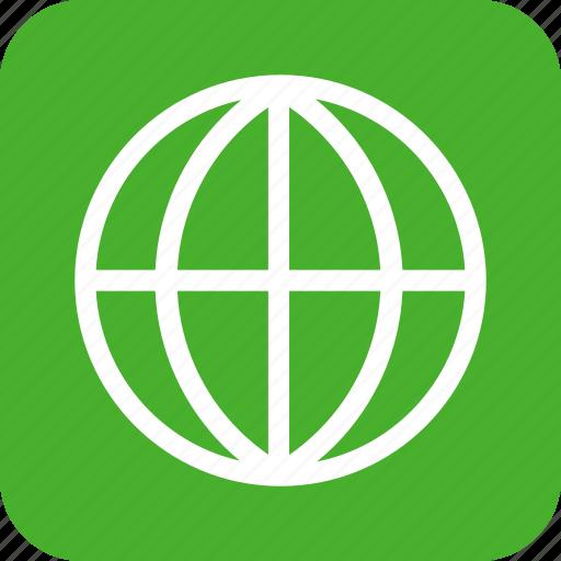global, globe, green, international, language, square icon