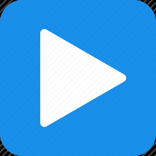 blue, movie, next, play, square, start, video icon