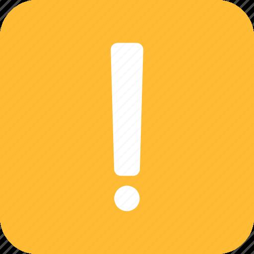 alert, caution, danger, error, exclamation, square, yellow icon