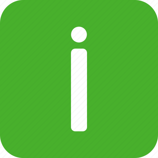 circle, green, help, info, information, learn, square icon