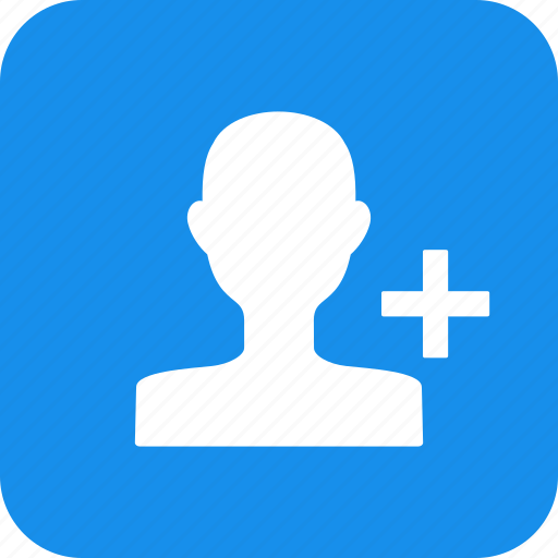 account, add, circle, contact, create, friend, square icon