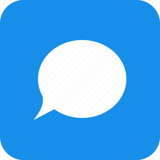 blue, chat, chatting, comment, message, square, talk icon