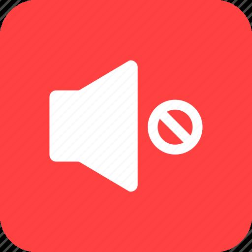 control, mute, player, silent, sound, square, volume icon