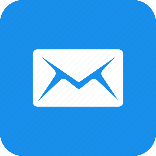 blue, email, letter, mail, message, messages, square icon