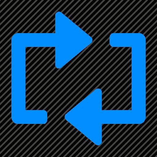 blue, control, media, reload, repeat icon