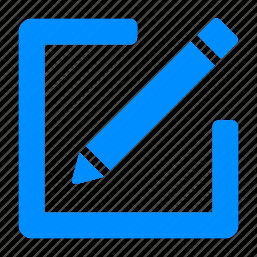 blue, edit, message, new, pen, write icon