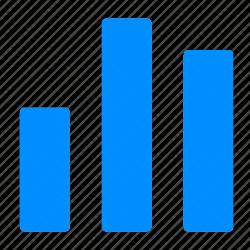 blue, growth, hart, statistics icon