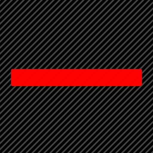 delete, minus, red, remove icon