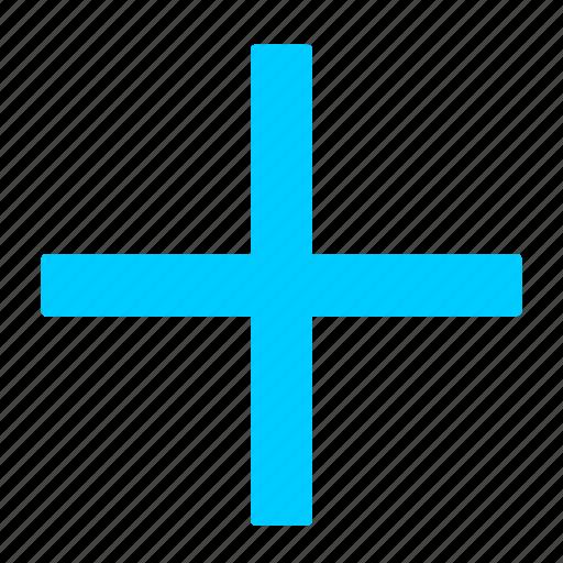 add, blue, create, new, plus icon