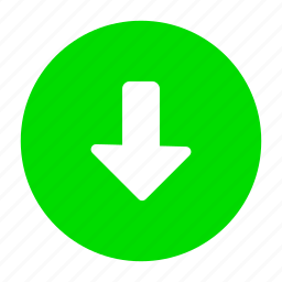 arrow, down, download, downloads, green icon