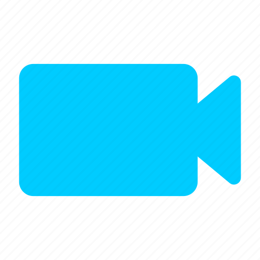 blue, camera, movie, video icon
