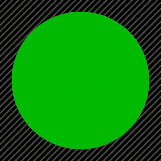 button, circle, green, rec, video icon