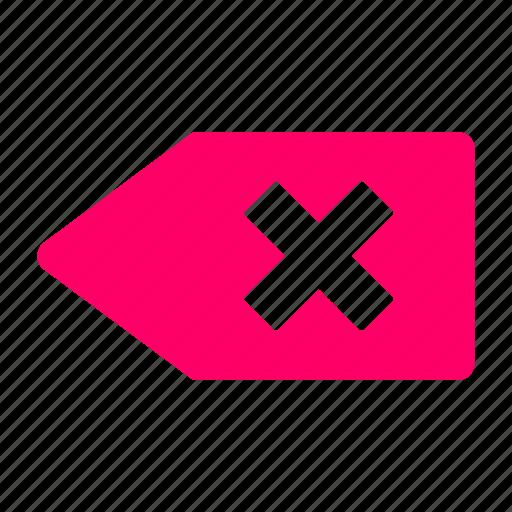 delete, red, remove icon
