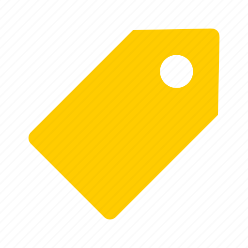 tags, yellow icon