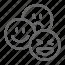 chat, emoji, emotion, media, network, smiley, social icon