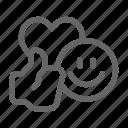 communication, emoji, emoticon, network, smiley, social icon