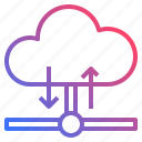 cloud, download, sharing, upload icon