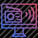 online, radio icon