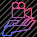 media, multimedia, sharing, video icon