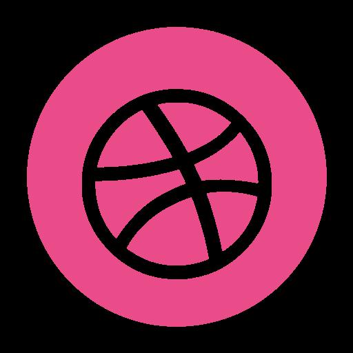 ball, dribbble, dribble, media, social icon