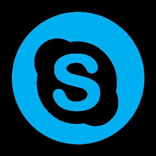 chat, communication, media, skype, social icon