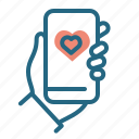 like, recommendation, smartphone, social network icon