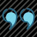 phrase, quotation, quote, text icon