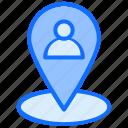 pin, location, user, marker