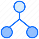 links, network, sharing, connection