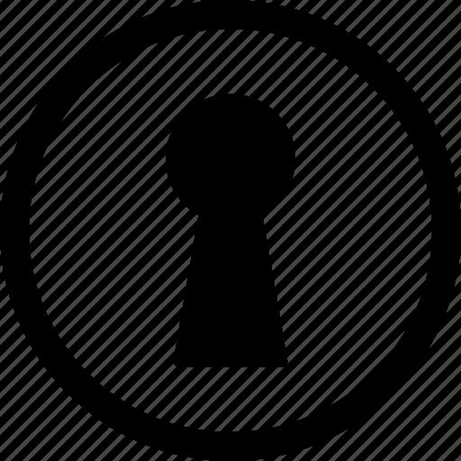access, door, hole, key, keyhole, password, vintage icon