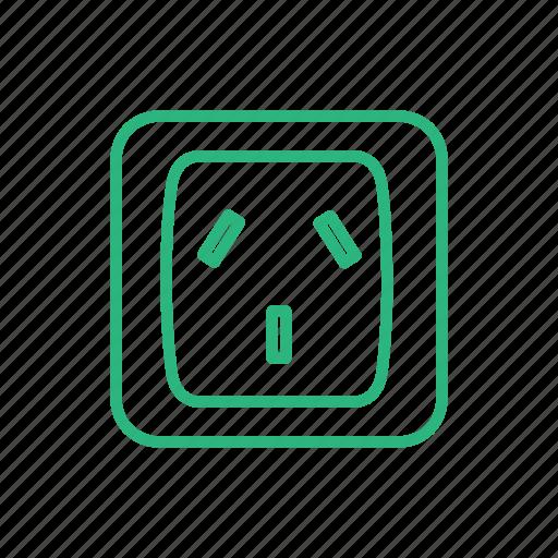 electric, electricity, light, lighting, power, power socket, socket icon