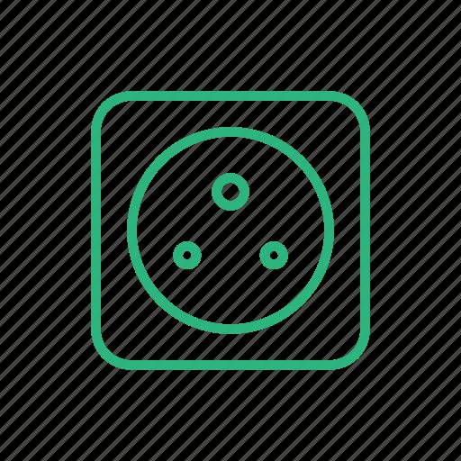 energy, flat icon, light, lighting, power, power socket, socket icon