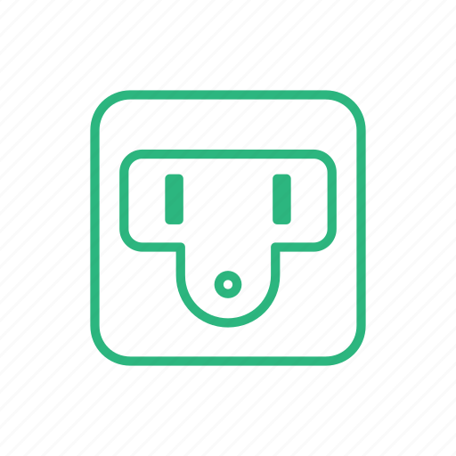 flat icon, light, lighting, power, power socket, socket icon