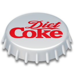 256, coke, diet icon