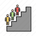 characters, development, graph, interpersonal, people, personality, skills icon