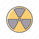 danger, environment, pollution, radioactive, radioactivity, warning, waste icon