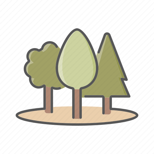 environment, forest, landscape, nature, trees icon