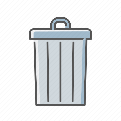 environment, garbage, pollution, trash can, waste icon