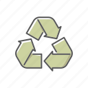 arrows, environment, life cycle, recycling, waste icon