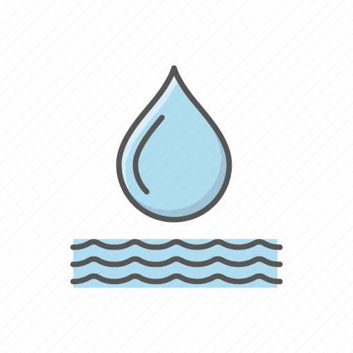 drop, environment, nature, pollution, water icon
