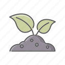environment, growth, nature, plant, soil, sprout icon