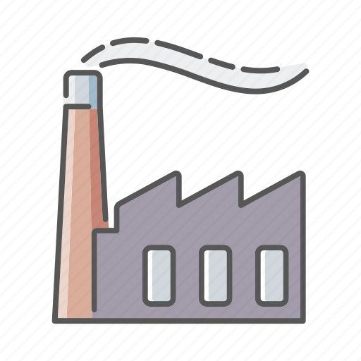 emission, environment, factory, industry, plant, pollution icon