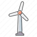 environment, power generation, sustainable energy, wind turbine icon