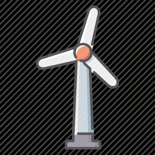 environment, power generation, sustainable energy, wind turbine icon