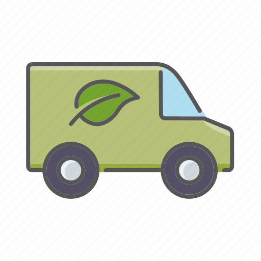 automobile, ecological, environment, low emission, transportation, van, vehicle icon