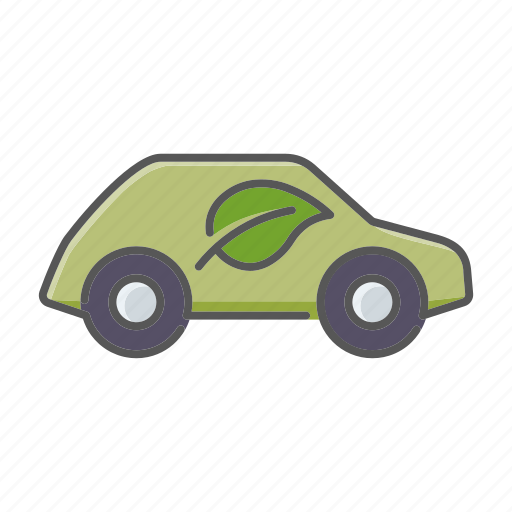 automobile, car, ecological, environment, hybrid, low emission, vehicle icon