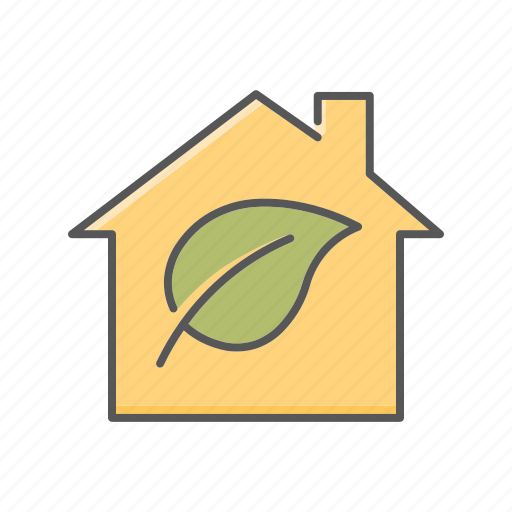 ecological, environment, home, house, low emission icon