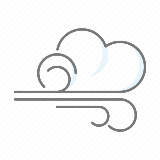 climate, cloud, meteorology, storm, weather, wind, windy icon