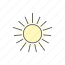 climate, meteorology, summer, sun, sunny, sunshine, weather icon
